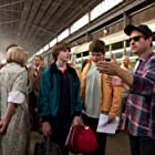 J.J. Abrams, Joel Courtney, and Riley Griffiths in Super 8 (2011)
