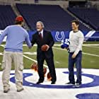 Rob Lowe, Jim Irsay, and Chris Pratt in Parks and Recreation (2009)