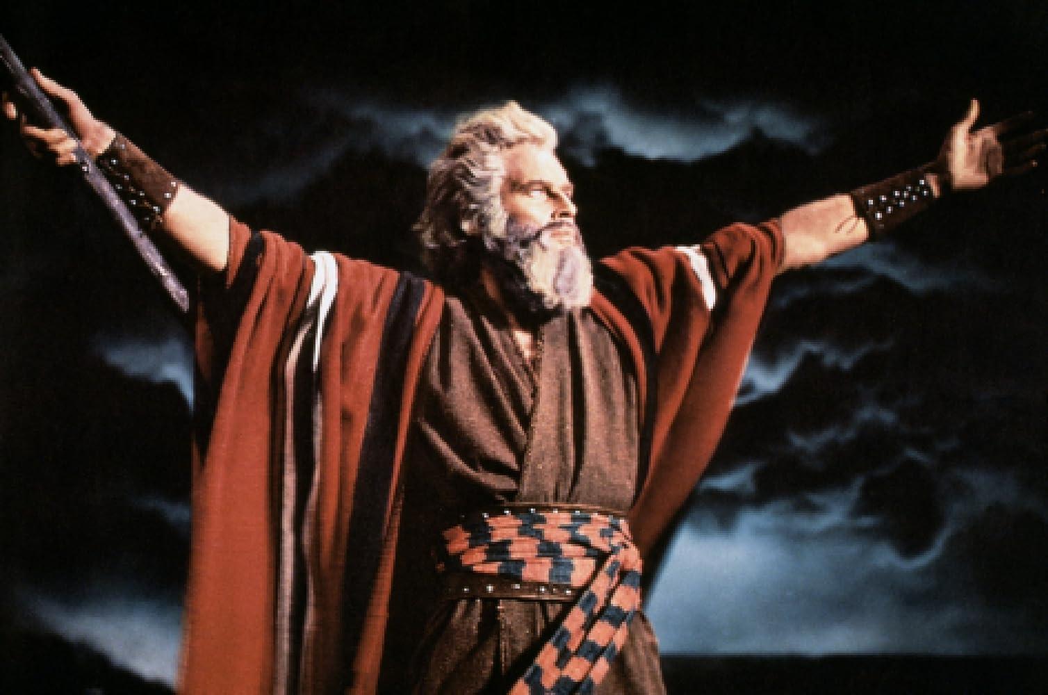 Charlton Heston as Moses in The Ten Commandments