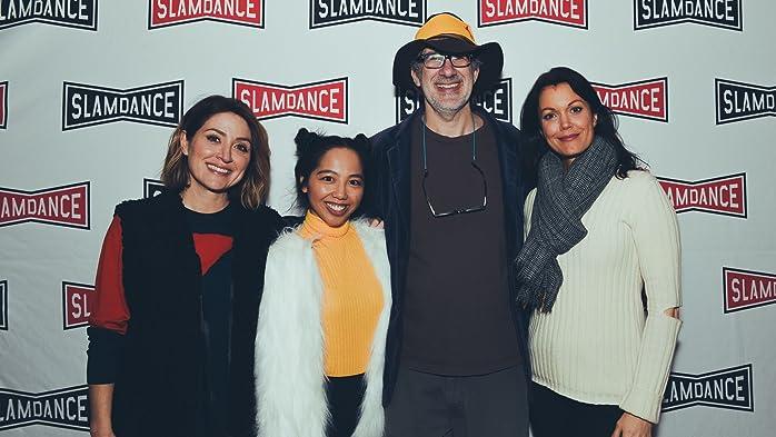 Sasha Alexander, Dan Mirvish, Bellamy Young, and Melanie Anne Padernal at an event for Bernard and Huey (2017)