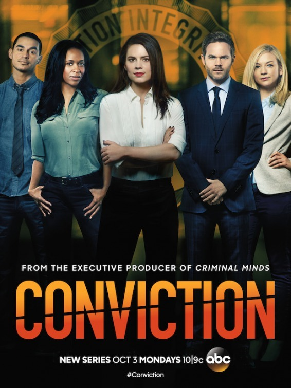 Shawn Ashmore, Merrin Dungey, Hayley Atwell, Emily Kinney, and Manny Montana in Conviction (2016)