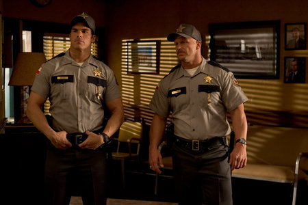 "Brandon Molale and Steve Austin in ""The Longest Yard""."