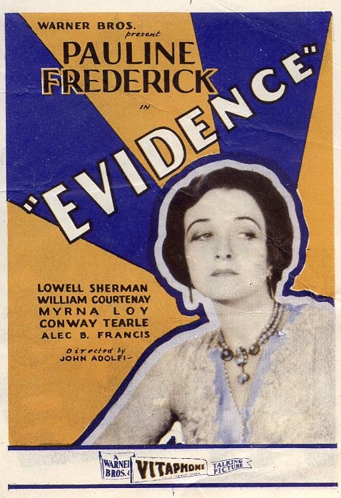 Pauline Frederick in Evidence (1929)