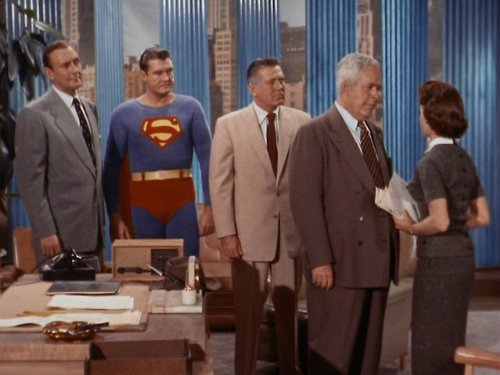 George Reeves, Milton Frome, John Hamilton, Noel Neill, and Robert Shayne in Adventures of Superman (1952)