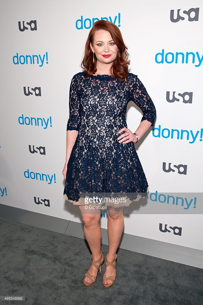 "Hailey Giles at the Red Carpet Premiere of USA's ""donny!"" at the Rainbow Room in New York City."