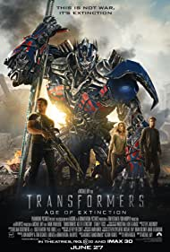 Mark Wahlberg, Peter Cullen, Nicola Peltz, and Jack Reynor in Transformers: Age of Extinction (2014)
