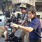 Michael Damian directing on location in Bucharest with cameraman Lulu de Hillerin