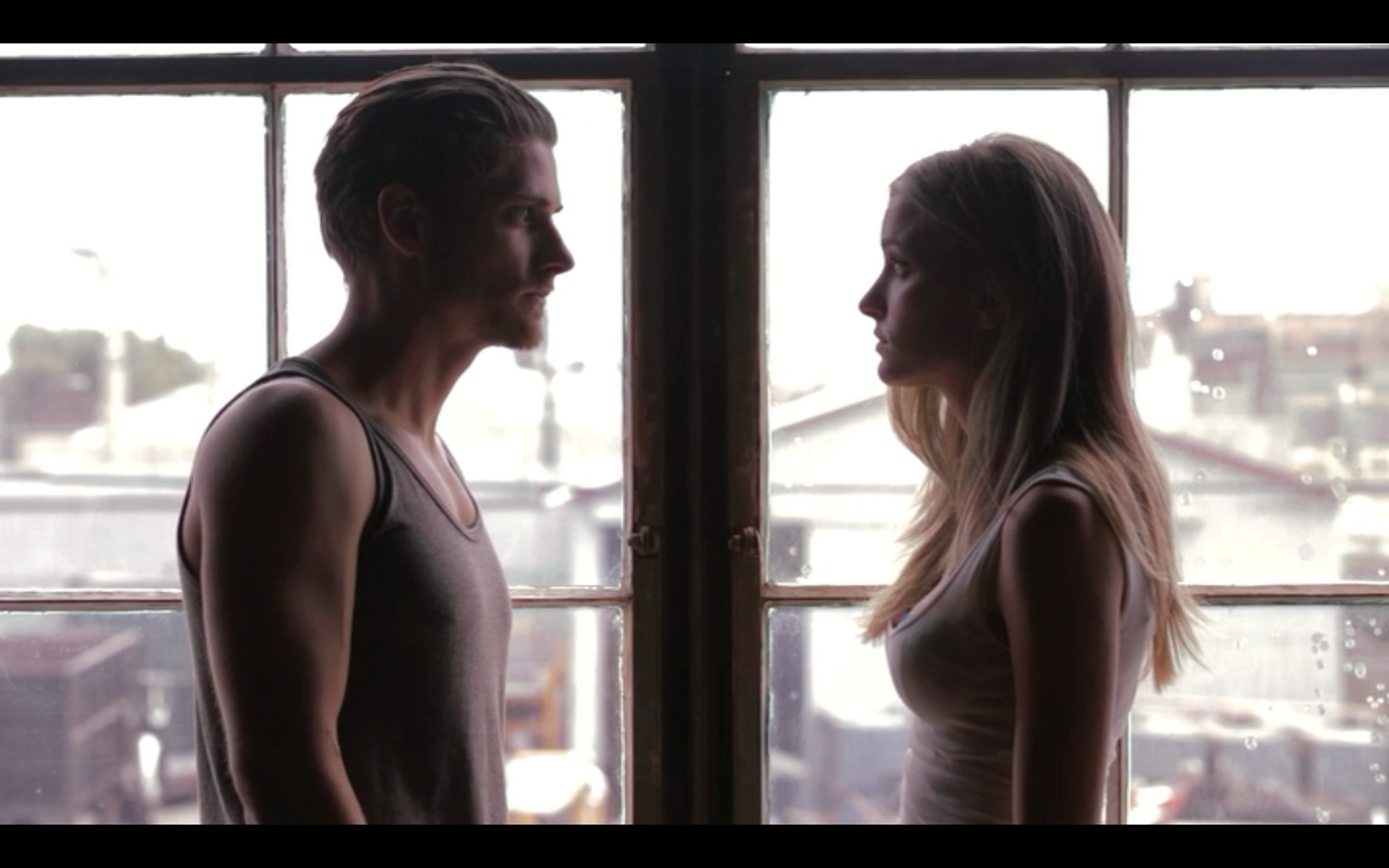 Still of Caleb Hunt and Brianne Howey in E.T.X.R. (2013)