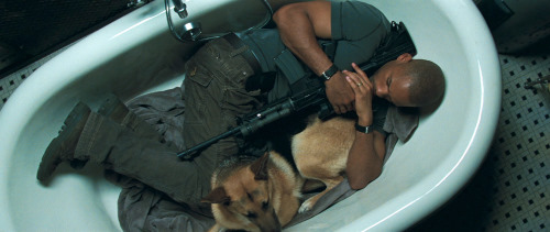 Will Smith and Abbey in I Am Legend (2007)