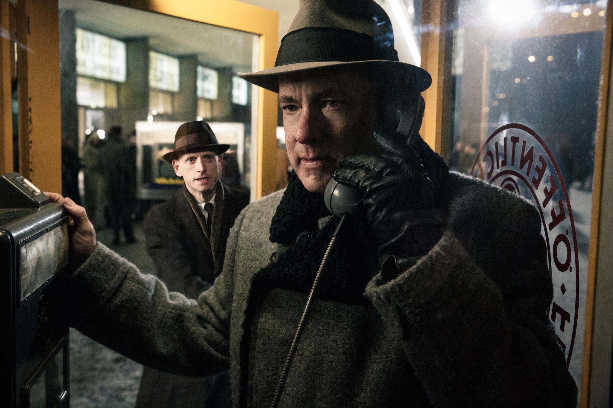 Tom Hanks and Scott Shepherd in Bridge of Spies (2015)