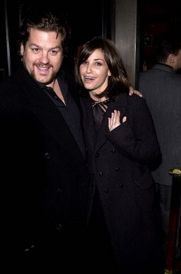 Gina Gershon and Ted Demme at an event for Bridget Jones's Diary (2001)