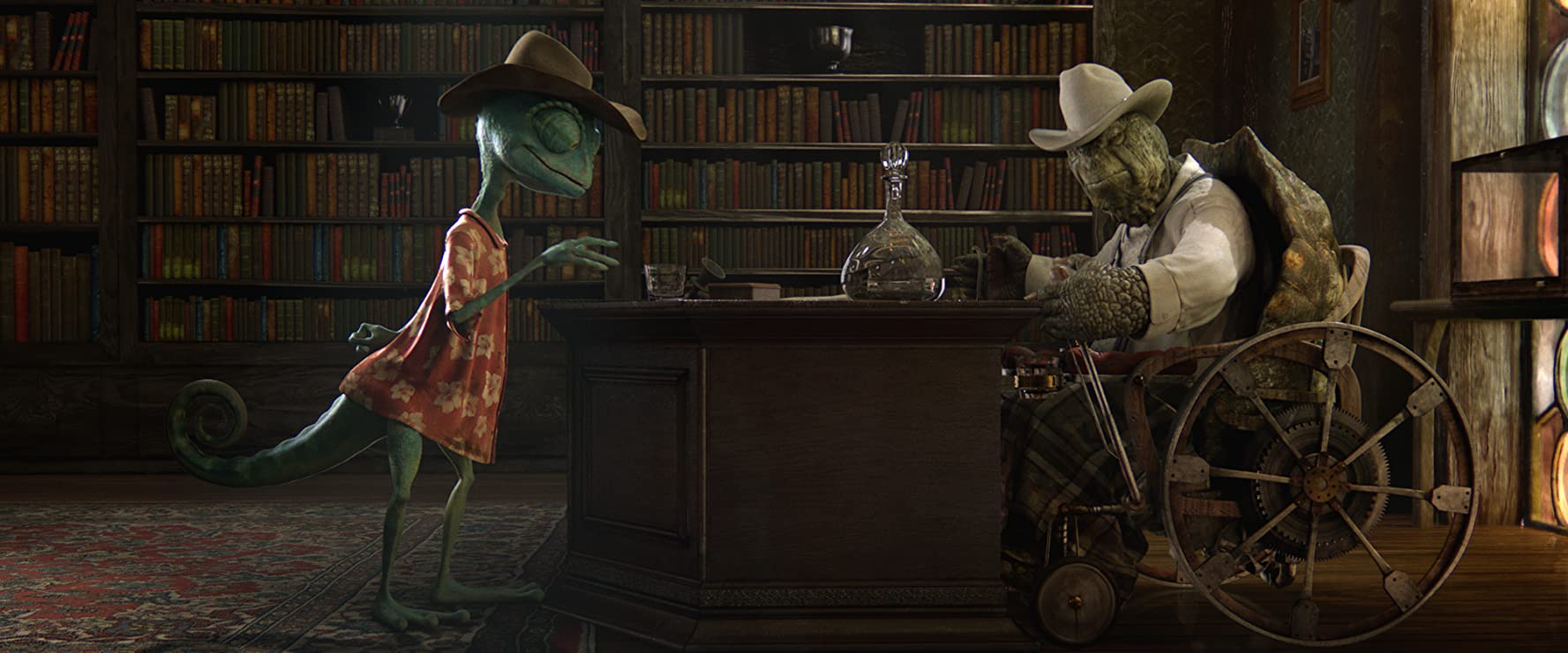 Johnny Depp and Ned Beatty in Rango (2011)