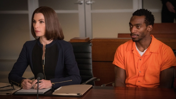 """Julianna Margulies and Daniel J. Watts as Clayton Riggs -  S7 Ep 13 """"Judged"""""""