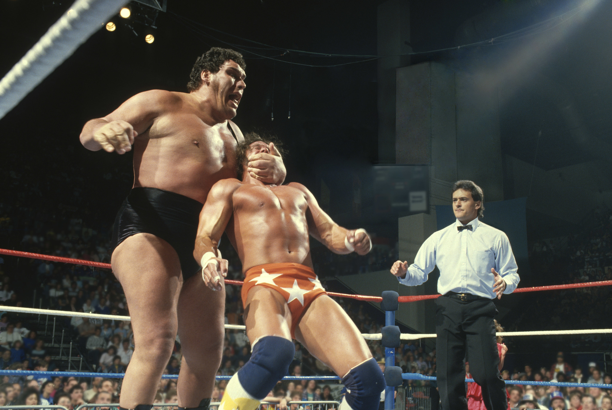 André the Giant and Randy Savage in Andre the Giant (2018)