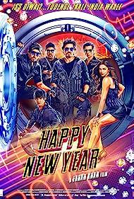 Abhishek Bachchan, Shah Rukh Khan, Boman Irani, Sonu Sood, Deepika Padukone, and Vivaan Shah in Happy New Year (2014)