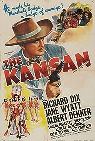 Richard Dix and Jane Wyatt in The Kansan (1943)