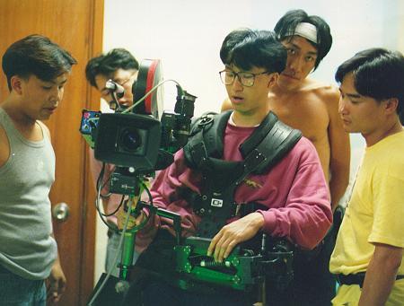 "Crew listening to director Tsui in ""No Regret, No Return"""