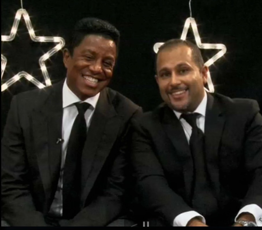 Host with guest Jermaine Jackson