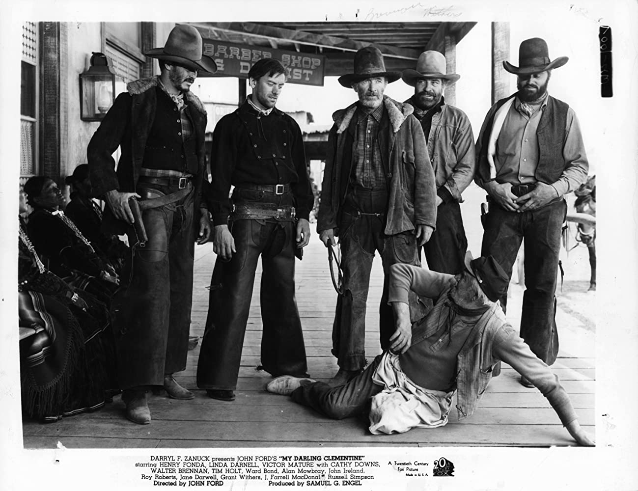 Walter Brennan, Francis Ford, John Ireland, Fred Libby, Mickey Simpson, and Grant Withers in My Darling Clementine (1946)