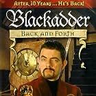 Rowan Atkinson, Stephen Fry, Miranda Richardson, Hugh Laurie, Rik Mayall, Kate Moss, and Tony Robinson in Blackadder Back & Forth (1999)