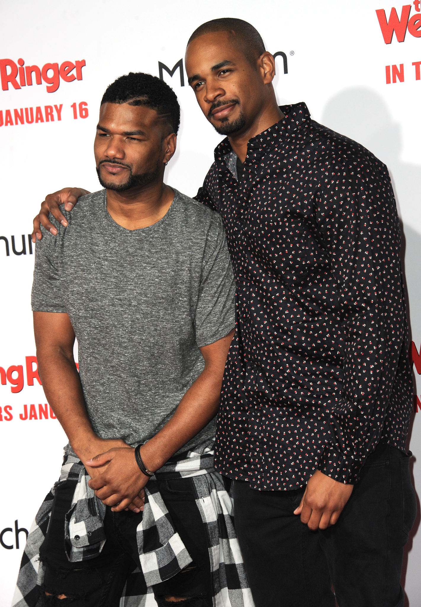 Damon Wayans Jr. and Damien Dante Wayans at an event for The Wedding Ringer (2015)