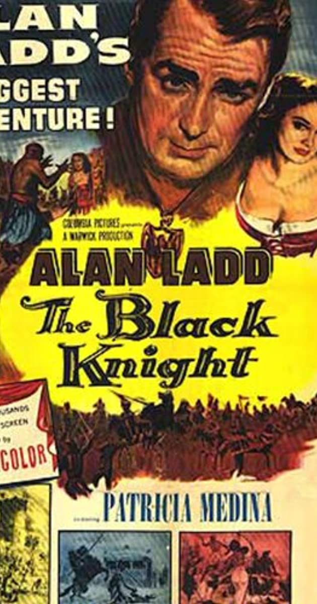 The black knight Alan Ladd vintage movie poster print