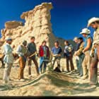 Billy Crystal, Helen Slater, David Paymer, Kyle Secor, Dean Hallo, Bill Henderson, Bruno Kirby, Phill Lewis, Josh Mostel, Daniel Stern, and Tracey Walter in City Slickers (1991)