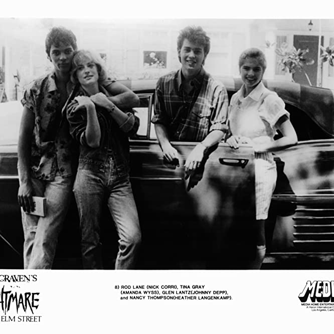 Johnny Depp, Heather Langenkamp, Jsu Garcia, and Amanda Wyss in A Nightmare on Elm Street (1984)