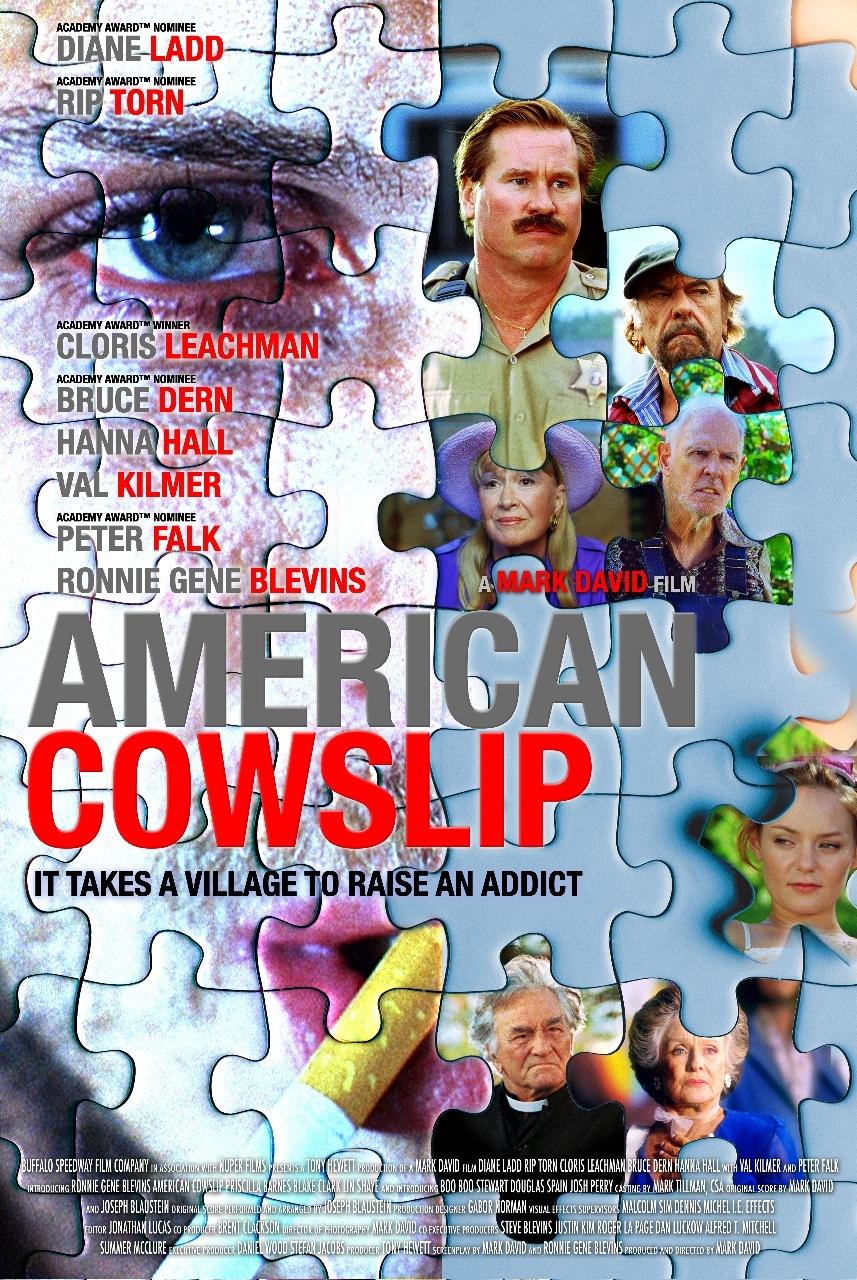 Val Kilmer, Peter Falk, Bruce Dern, Cloris Leachman, Rip Torn, Diane Ladd, and Ronnie Gene Blevins in American Cowslip (2009)