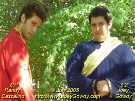 """Joey Gowdy and Randy Cazzalino on the set of """"Colonial Warriors"""" in Boston in July 2005."""