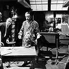 """Gambit"" Shirley MacLaine, director Ronald Neame, John Abbott, Michael Caine 1966 Universal Pictures"