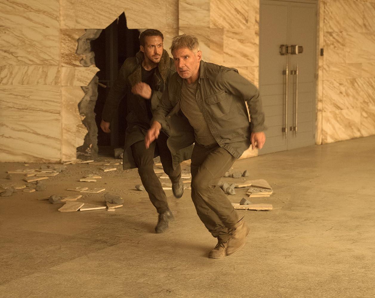 Harrison Ford and Ryan Gosling in Blade Runner 2049 (2017)