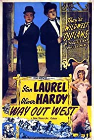 Oliver Hardy, Stan Laurel, and Sharon Lynn in Way Out West (1937)