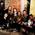 Several of the cast of Flat Whites, May 2012.