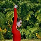 """33-2271 Audrey Hepburn doing exercises on the MGM set of """"Green Mansions"""""""