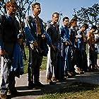 Paul Newman, J.D. Cannon, Richard Davalos, Wayne Rogers, and Ralph Waite in Cool Hand Luke (1967)