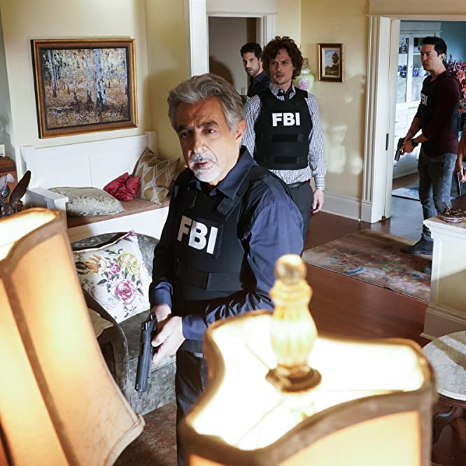Joe Mantegna, Adam Rodriguez, Aisha Tyler, Matthew Gray Gubler, and Daniel Henney in Criminal Minds (2005)