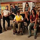 Darren Criss, Kevin McHale, Melissa Benoist, Jenna Ushkowitz, Chord Overstreet, Samuel Larsen, and Alex Newell in Glee (2009)