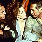 Paul Newman, Steve McQueen, and Faye Dunaway in The Towering Inferno (1974)