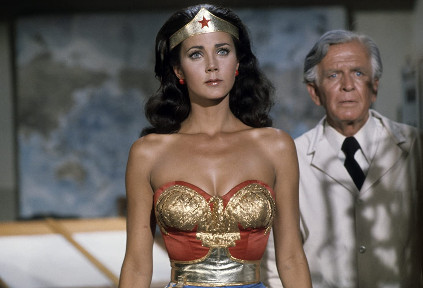 Lynda Carter and Hayden Rorke in Wonder Woman (1975)