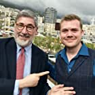 """John Landis and director Rasmus Heide at the screening of Heides """"Three Heists and a Hamster"""" at the Monte Carlo Comedy Film Festival."""
