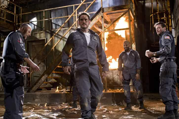 Skeet Ulrich, Matt Dillon, Jean Reno, and Amaury Nolasco in Armored (2009)