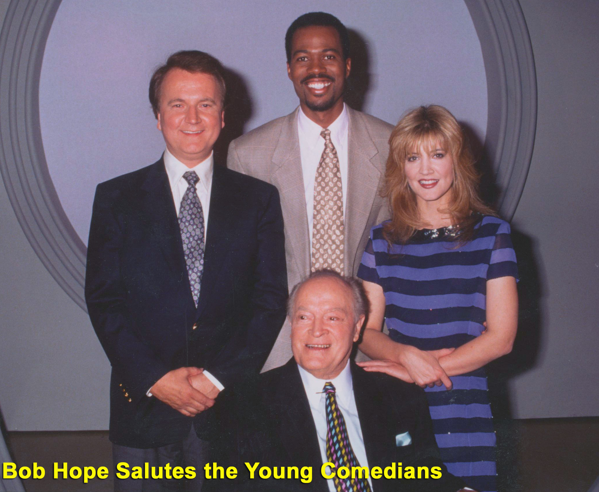 Bob Hope, Crystal Bernard, Anthony Griffith, and Dave Thomas in Young Comedians: Making America Laugh (1994)