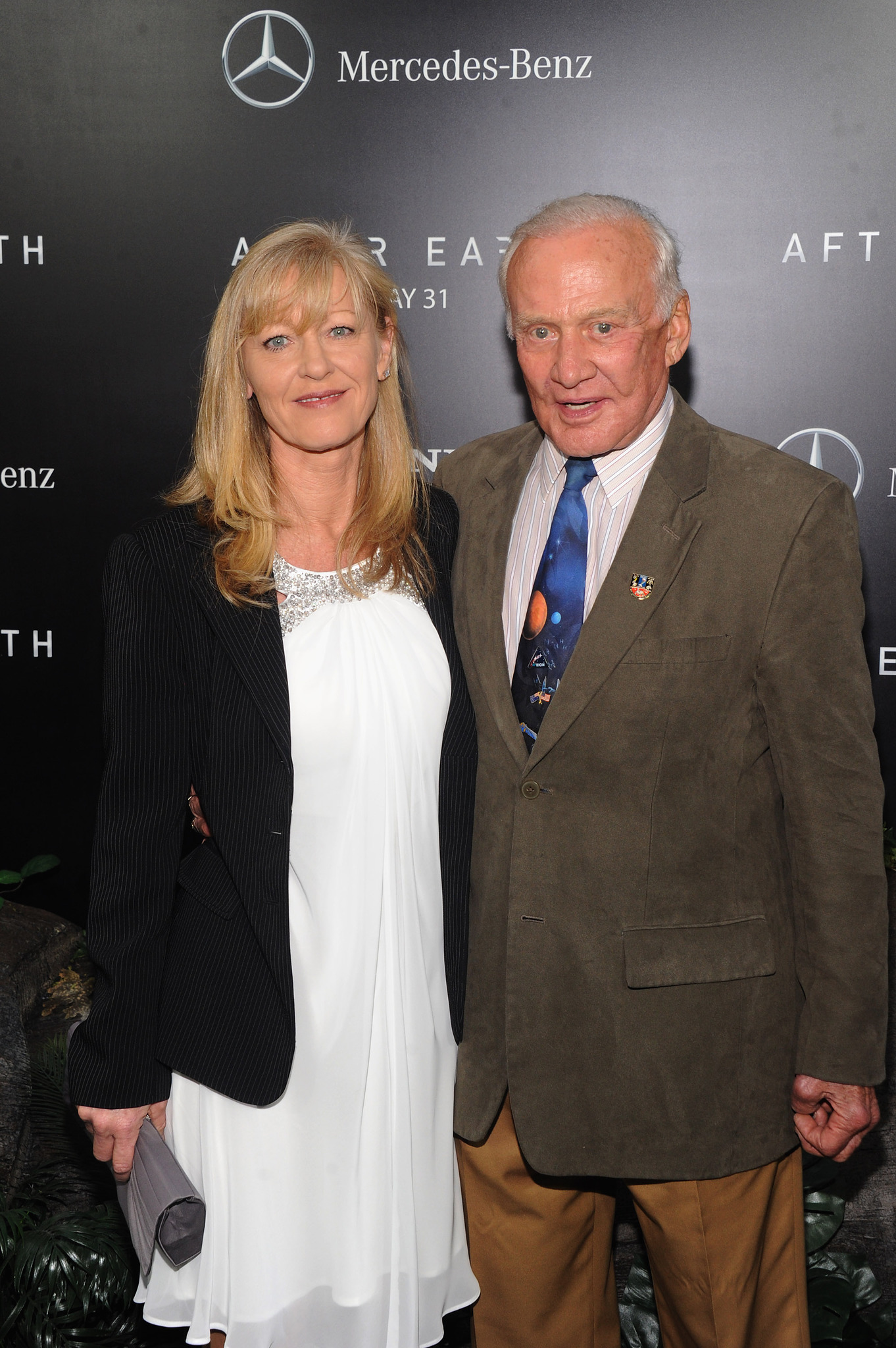 Buzz Aldrin at an event for After Earth (2013)