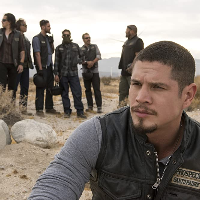 Michael Irby, Antonio Jaramillo, Raoul Max Trujillo, JD Pardo, Richard Cabral, Clayton Cardenas, and Vincent Vargas in Mayans M.C. (2018)