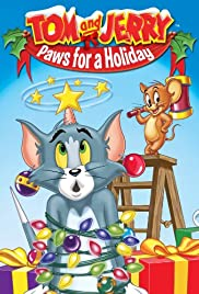 Tom and Jerry: Paws for a Holiday Poster