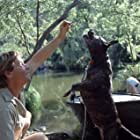 STEVE IRWIN and his dog, SUI