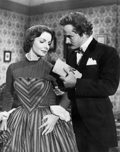 John Derek and Elizabeth Sellars in Prince of Players (1955)