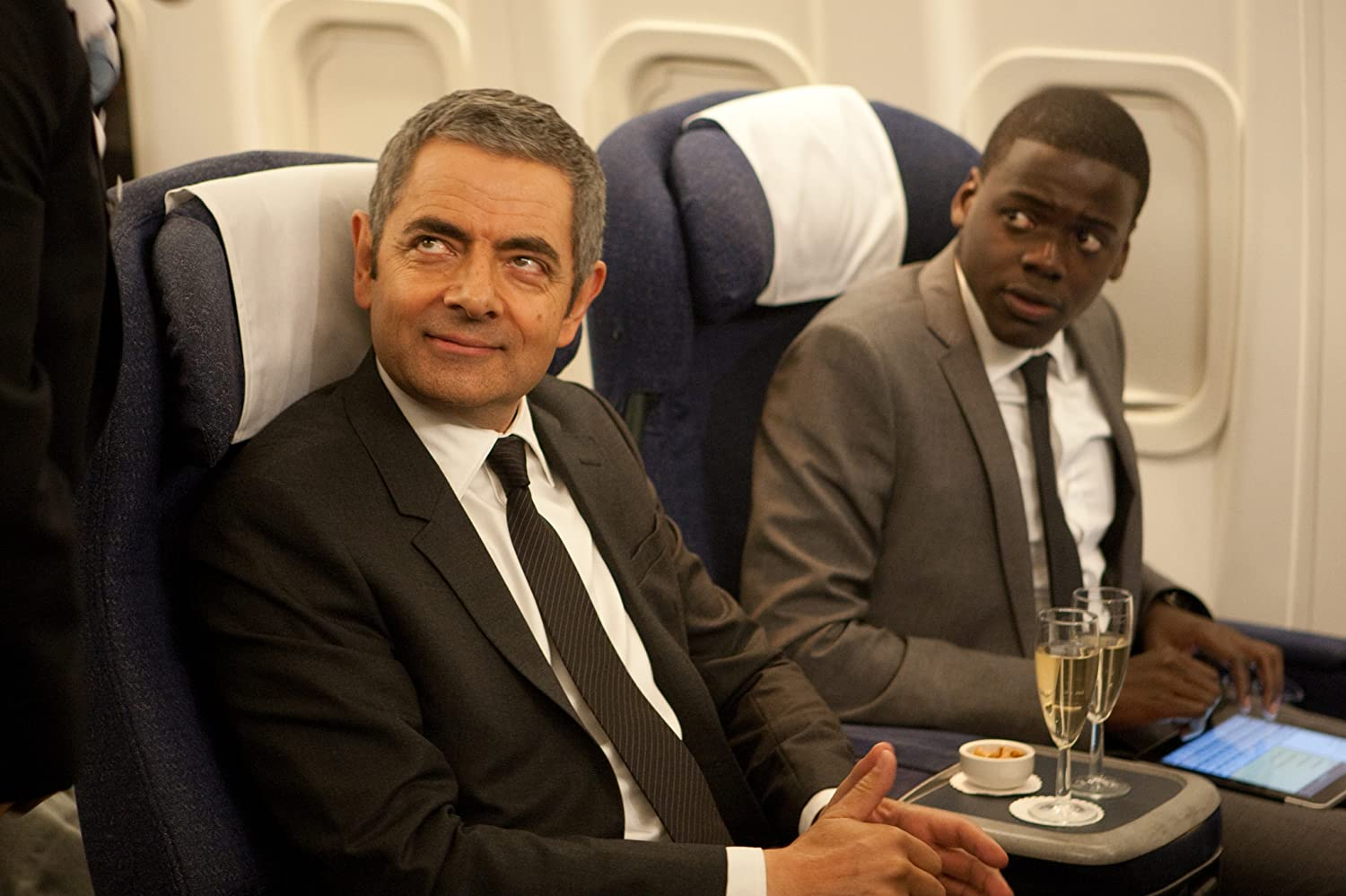 Rowan Atkinson and Daniel Kaluuya in Johnny English Reborn (2011)