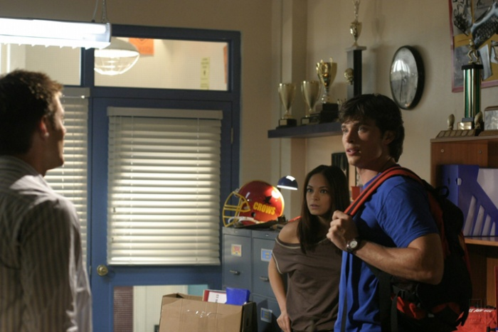 Jensen Ackles, Kristin Kreuk, and Tom Welling in Smallville (2001)